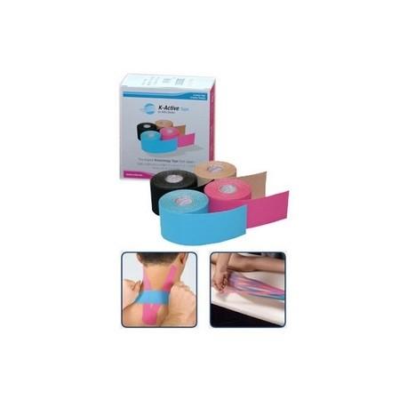 Vendaje adhesivo Kinesio tape k-active 5cm x 5m AZUL