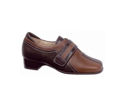 Zapato señora piel combinado