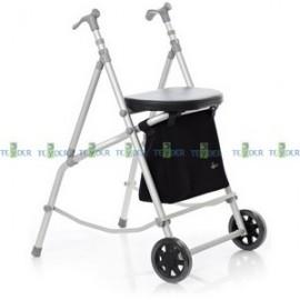 Andador Gran Vía con bolsa y asiento (2 rdas y 2 ptas)