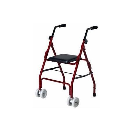 Andador aluminio dos ruedas giratorias y dos patas