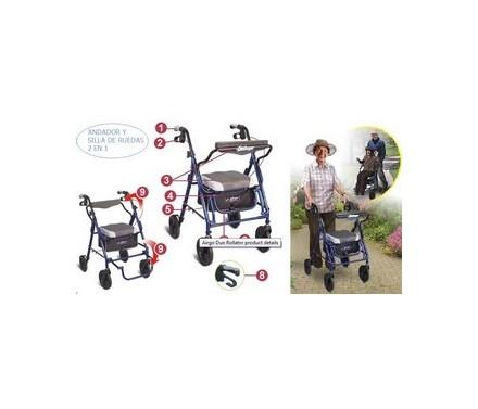 Andador y silla de ruedas (híbrido) Airgo Duo Rollator