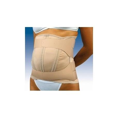 Faja sacrolumbar abdomen pendulo, semirrigida y cierre velcro