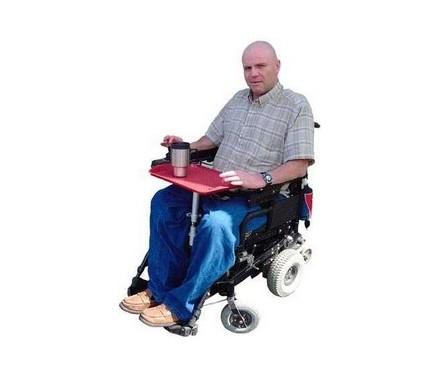 Bandeja para comida en silla de ruedas