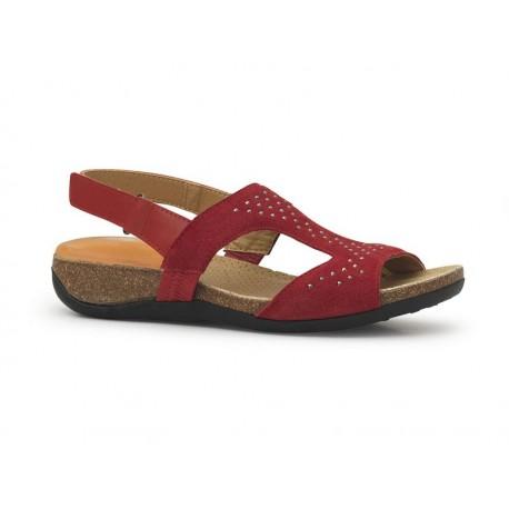 Sandalias rojas mujer