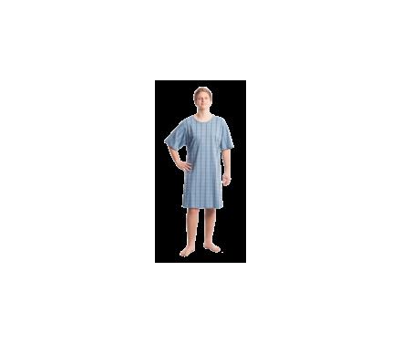 Camison cuadros azul espalda
