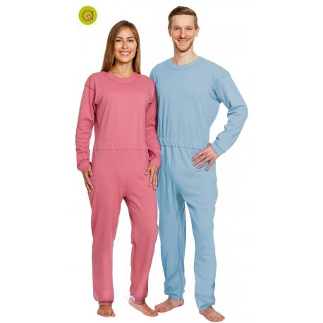 Pijama antipañal largo con una cremallera