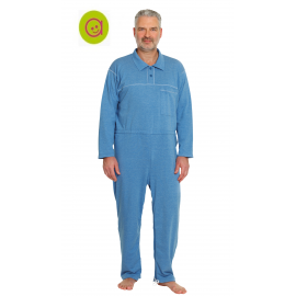 Pijama polo antipañal crema. entrepierna