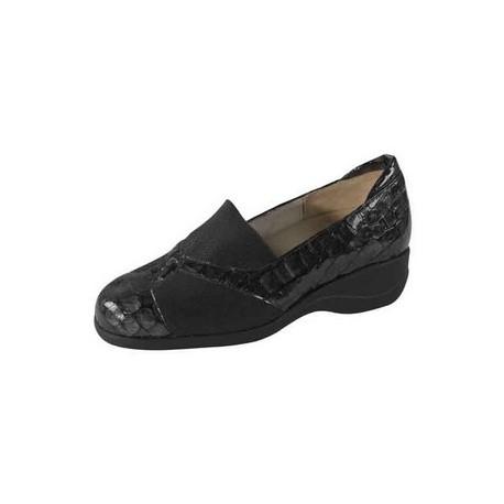 Zapato señora piel y lycra