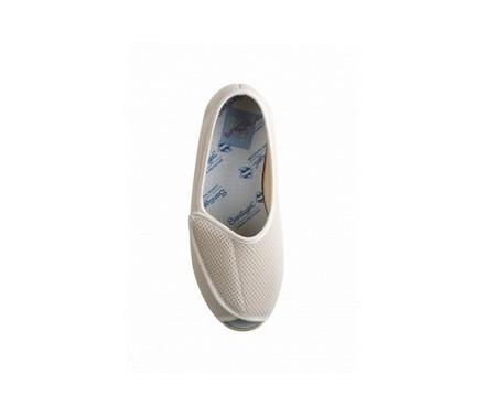 Zapato cómodo de velcro con apertura total delantera de señora