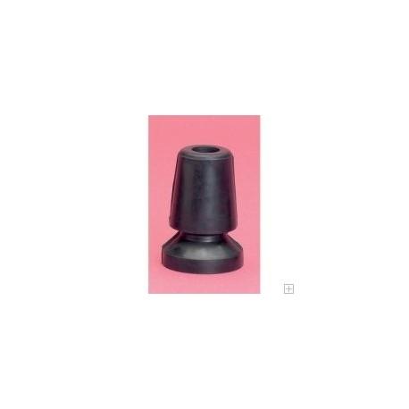 Contera flexible 22 mm color negro