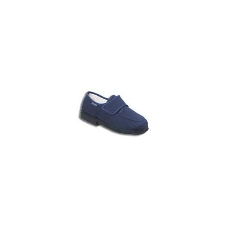 Zapato textil de verano con velcro en color azul