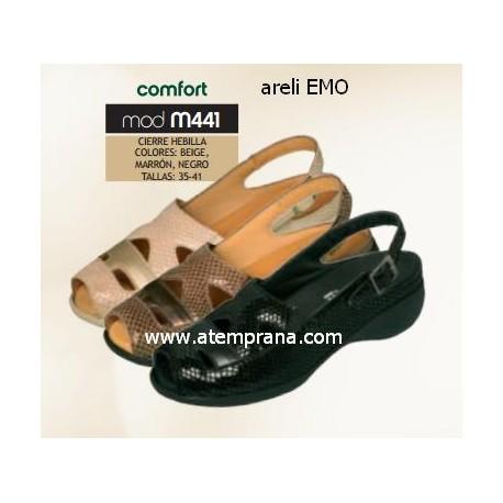Zapato de verano para plantilla modelo M441 comfort Areli Emo