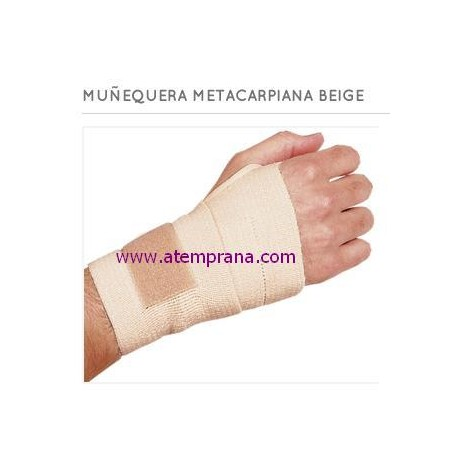 Muñequera metacarpiana color beige