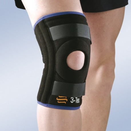 Rodillera corta con refuerzos laterales flexibles