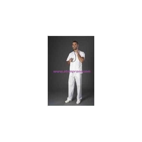 pijama blanco botones