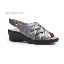 Zapato trenzado plata