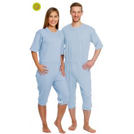 Pijama manga y pierna corta antipañal