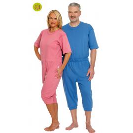 Pijama antipañal con una cremallera man y pier. corta