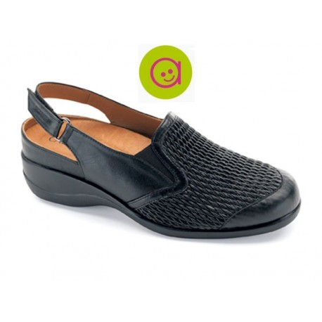 Confort zapato señora negro