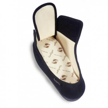 Zapato velcro ancho negro