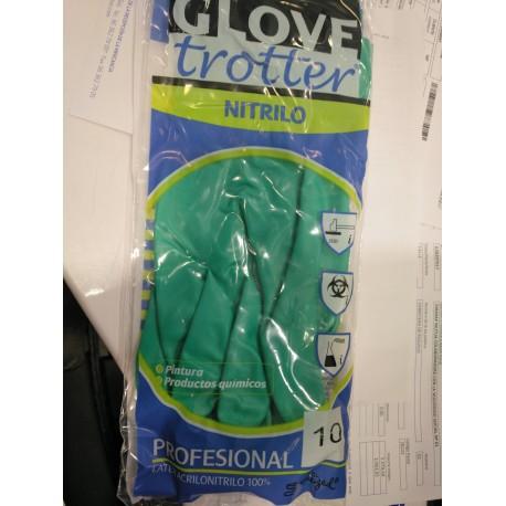 Guantes nitrilo verde
