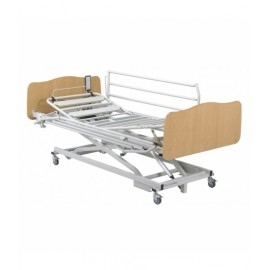 Cama Aldrys+colchon+barandillas metal+paneles madelia II