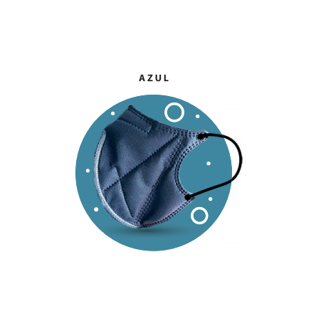Pack de 2 Mascarillas Azul de Alta filtración Ergonatural