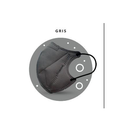 Pack de 2 Mascarillas Gris de Alta filtración Ergonatural