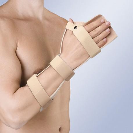 Férula postural en mano plana con primer dedo en separación